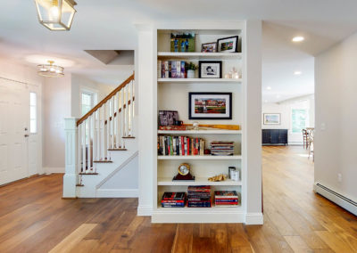 Bookshelf in Maine Home Remodel