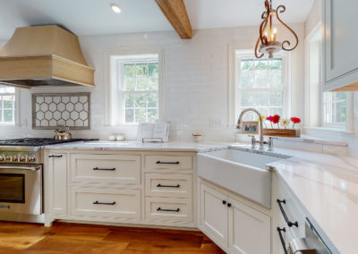 Maine Home Kitchen Remodel with Corner Sink