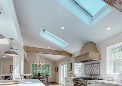 Natural Lighting with Skylights in Kitchen Remodel